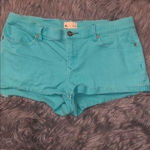 Roxy blue shorts